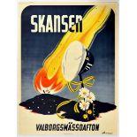 Advertising Poster Skansen Walpurgis Night Sweden