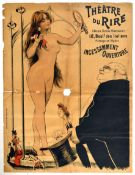 Advertising Poster Theatre Du Rire Striptease France Paris Incessamment Ouverture