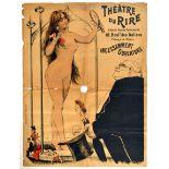 Advertising Poster Theatre Du Rire Striptease France Paris Incessamment Ouverture