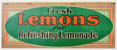 Advertising Poster Fresh Lemons for Refreshing Lemonade