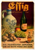 Advertising Poster Organic Natural Vinegar German Effig