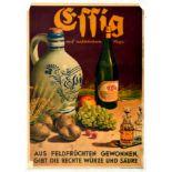 Advertising Poster Organic Natural Vinegar German Effig