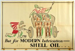 Advertising Poster Shell Oil Boadicea Chariot John Banting