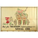 Advertising Poster Shell Oil Boadicea Chariot John Banting