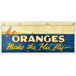 Advertising Poster Sailing Oranges Make the Flu Fly