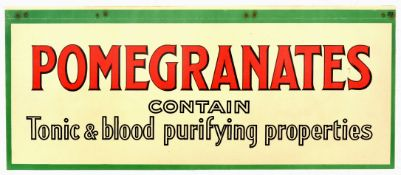 Advertising Poster Pomegranates Contain Tonic Blood Purifying