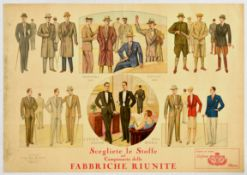 Advertising Poster Men Fashion Italy Art Deco Torino