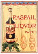 Advertising Poster Raspail Liquor Alcohol Paris