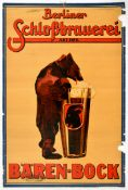 Advertising Poster Baren Bock Beer Bear Berlin