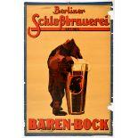 Advertising Poster Baren Bock Beer Bear Berlin