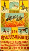 Advertising Poster The Djiguite Cossacks Show