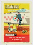 Propaganda Poster Set RAF Airplance Safety Maintenance Examine Damage