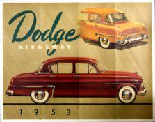 Advertising Poster Dodge Kingsway 1953