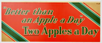 Advertising Poster Healthy Diet Two Apples a Day