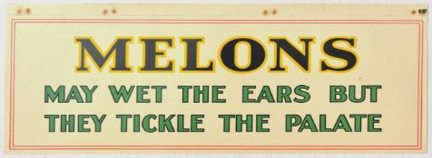 Advertising Poster Melons May Wet the Ears