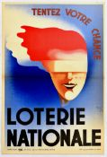 Advertising Poster Loterie Nationale National Lottery Art Deco