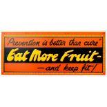 Advertising Poster Eat More Fruit Disease Prevention