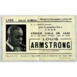 Advertising Poster Louis Armstrong Jazz Gala Lyon France 1934
