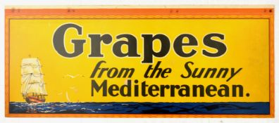 Advertising Poster Sunny Mediterranean Grapes