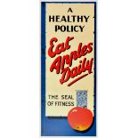 Advertising Poster Health Fitness Diet Eat Apples Daily