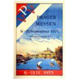 Advertising Poster Prague Fair Czechoslovakia Vltava