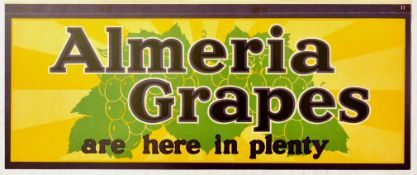 Advertising Poster Almeria Grapes Fruit