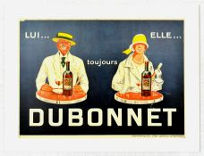 Advertising Poster Always Dubonnet Alcohol Drink France
