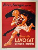 Advertising Poster Strength Energy Lavocat Rugby Horse Power