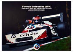 Advertising Poster BMW Ralt Eddie Cheever Formula 2