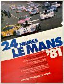 Advertising Poster Porsche 24 Hours Le Mans