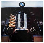 Advertising Poster BMW Formula 2 Race Car Engine Germany