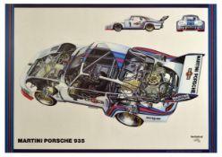 Sport Poster Martini Porsche 935 Cutaway