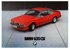 Advertising Poster BMW 635 CSi Coupe Car Germany Red