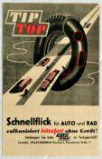 Advertising Poster TipTop Rubber Tires Motorcycle Racing