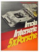 Sport Poster Porsche 917 Imola Interserie Italy Coppa Orro Shell Willy Kauhsen Ferrari