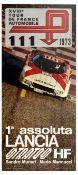 Advertising Poster Lancia Stratos Tour de France Automobile