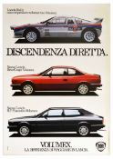 Advertising Poster Lancia Direct Lineage Volumex Race Car