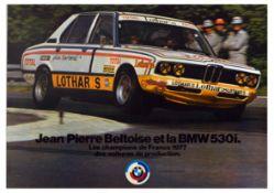 Advertising Poster BMW 530i Jean Pierre Beltoise Champion France 1977