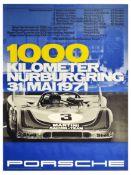 Sport Poster Porsche 908 1000km Nurburgring Race Larrousse