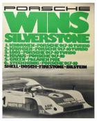 Advertising Poster Porsche 917 Wins Silverstone Shell Bosch Firestone Bilstern
