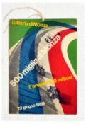 Sport Poster 500 Miglia di Monza Racing Track Lottery Italy