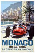 Sport Poster Monaco 1965 Grand Prix Formula One Motor Sport