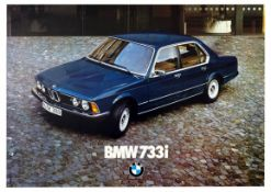 Advertising Poster BMW 733i Car Germany
