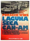 Advertising Poster Porsche 917 Wins Laguna Seca CanAm McLaren
