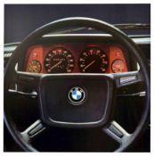 Advertising Poster BMW Steering Wheel Dashboard Germany