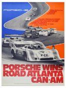Sport Poster Porsche 917 Wins Road Atlanta CanAm Crown Cola Valvoline Holiday Inn
