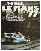 Sport Poster Porsche 936 Le Mans 1977 Race Car Motorsport