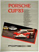 Advertising Poster Porsche Cup 1983 Car Racing