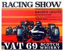 Advertising Poster Racing Show Galerie Louise Cars Brussels