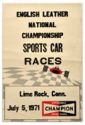 Advertising Poster English Leather National Championship Sports Car Races